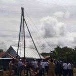 Pemancangan Tiang Baja, Tahap Baru Pelaksanaan Pembangunan Gedung Islamic Center Kab. Nabire